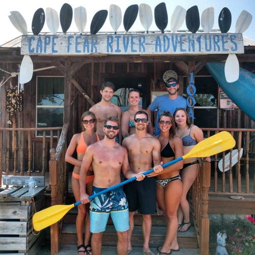 Kayak rental cabin at Cape Fear River Adventures