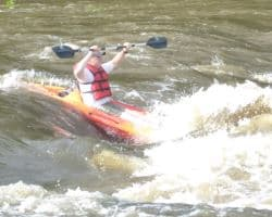 whitewater kayaking with cape fear river adventures in lillington, NC