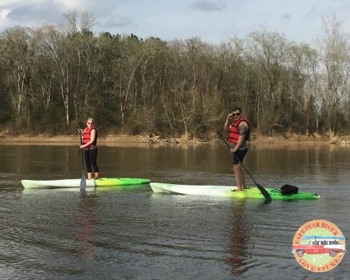 paddle boarding on cape fear river in lillington, nc