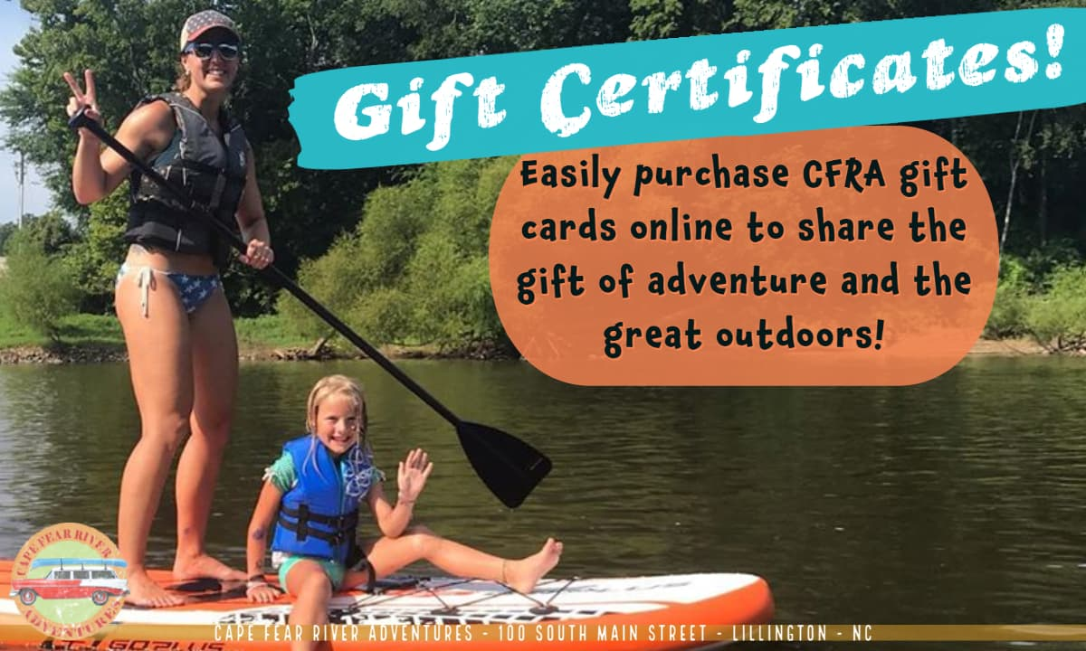 Cape Fear River Adventures Gift Certificates