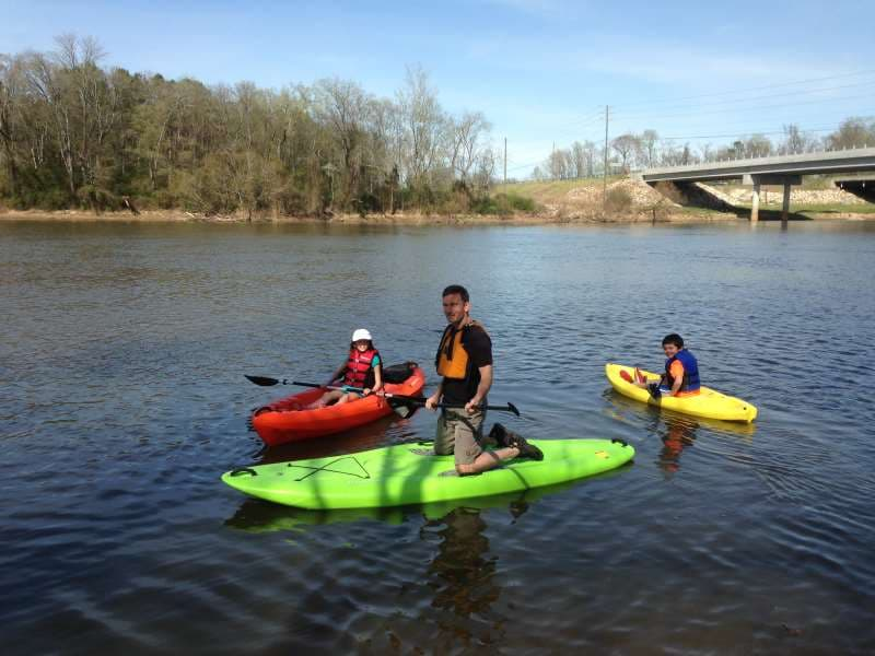 paddle board rental and kayak rental on cape fear river in lillington, NC