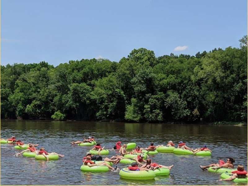 lazy river tubing on cape fear river in lillington, NC