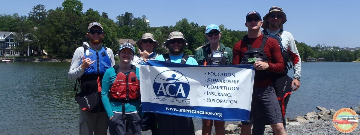 ACA certified intro to kayaking class taught by Cape Fear River Adventures in Lillington, NC