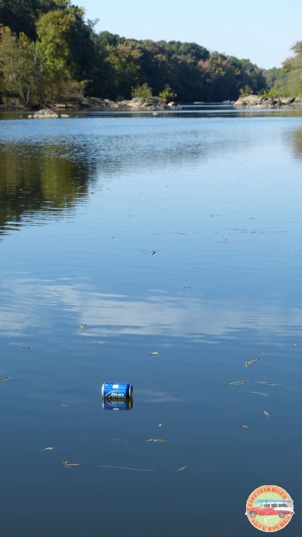 Trash on the Cape Fear River