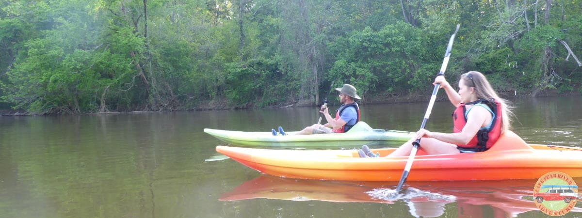 kayaking on Cape Fear River in Lillington, NC
