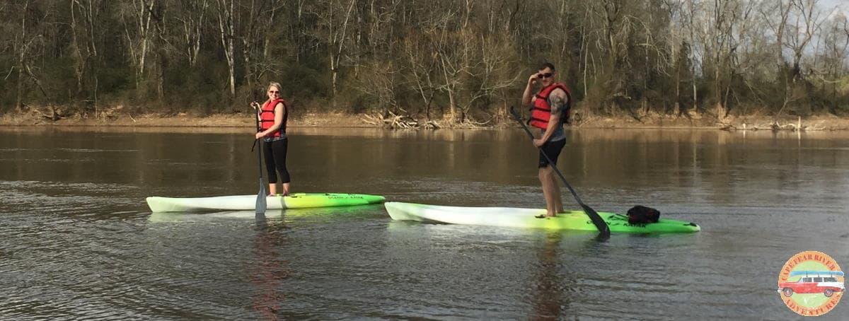 Intro to Paddle board class on Cape Fear River in Lillington, NC