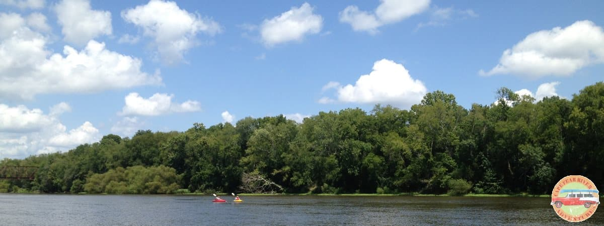 two kayakers on cape fear river
